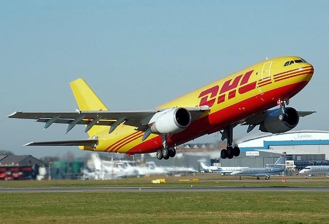 DHLの貨物専用機
