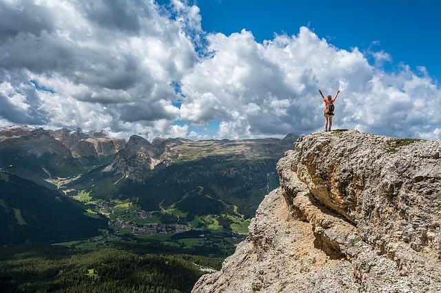登頂と目標達成