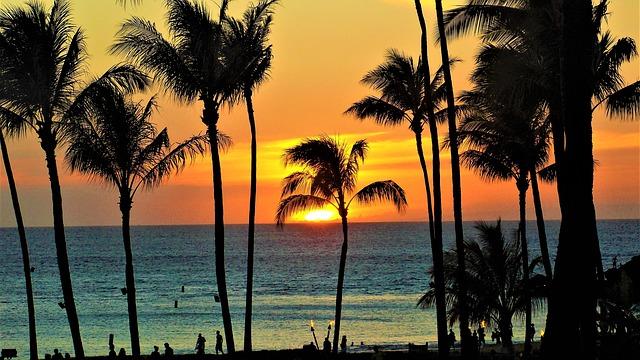 ハワイ・マウイの夕日